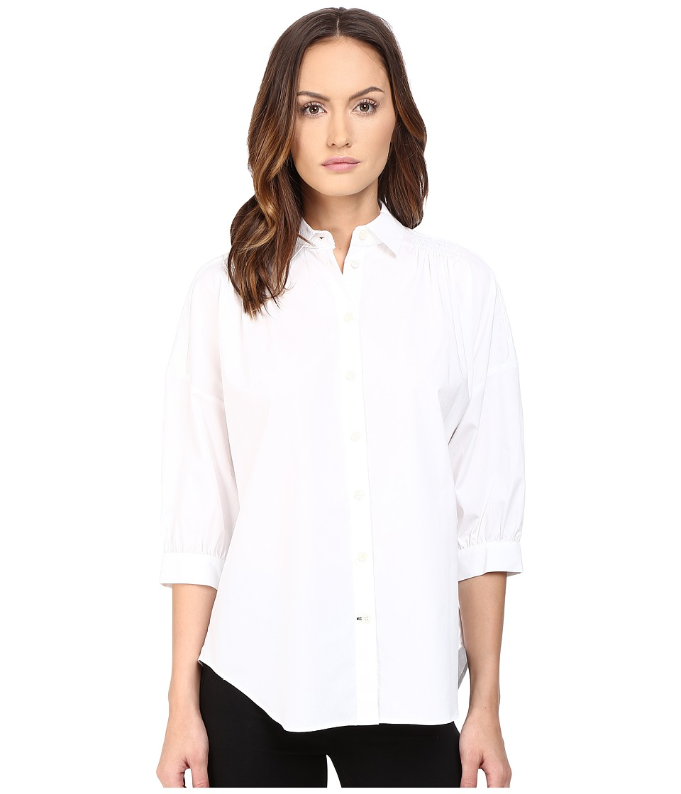 Kate Spade New York - Relaxed Poplin Shirt (Fresh White) Women's Long Sleeve Button Up