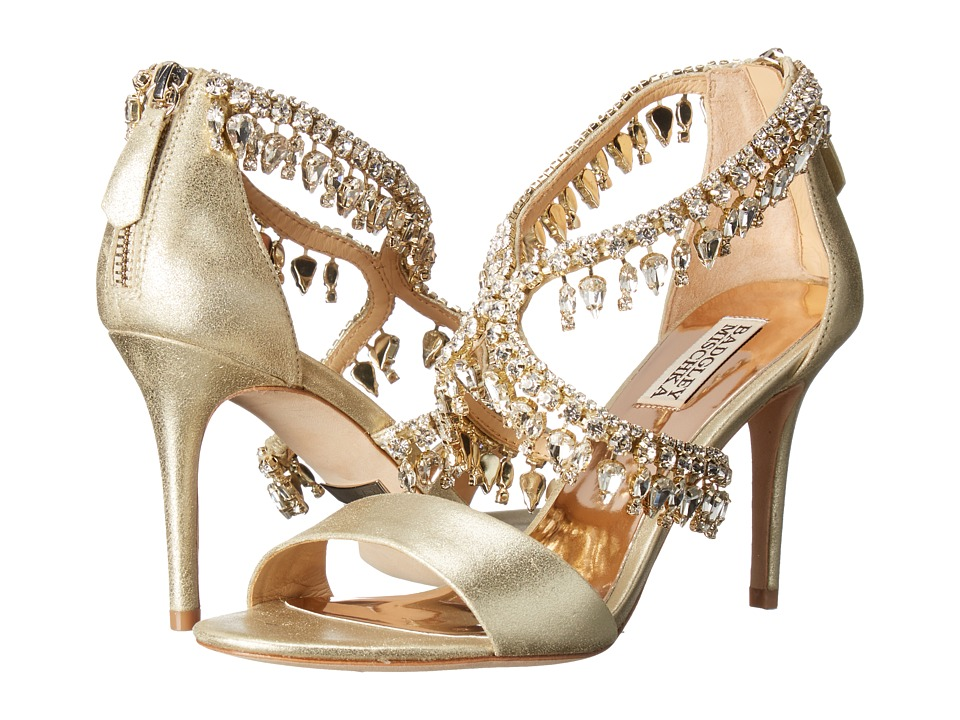 Badgley Mischka Grammy II (Platino Metallic Suede) High Heels