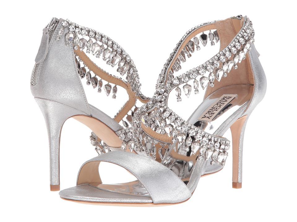 Badgley Mischka Grammy II (Silver Metallic Suede) High Heels