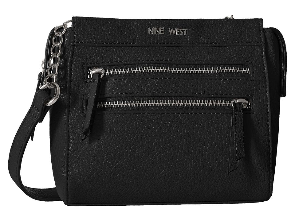 Nine West - Zip Zip Small Crossbody (Black) Cross Body Handbags