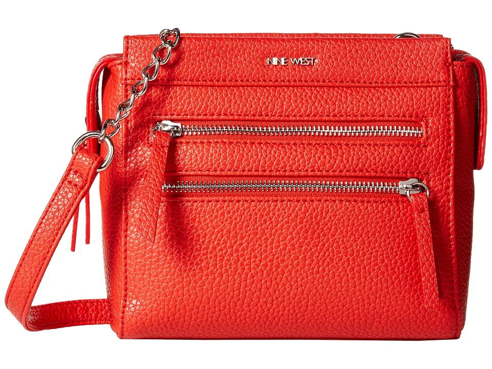 Nine West - Zip Zip Small Crossbody (Bright Poppy) Cross Body Handbags