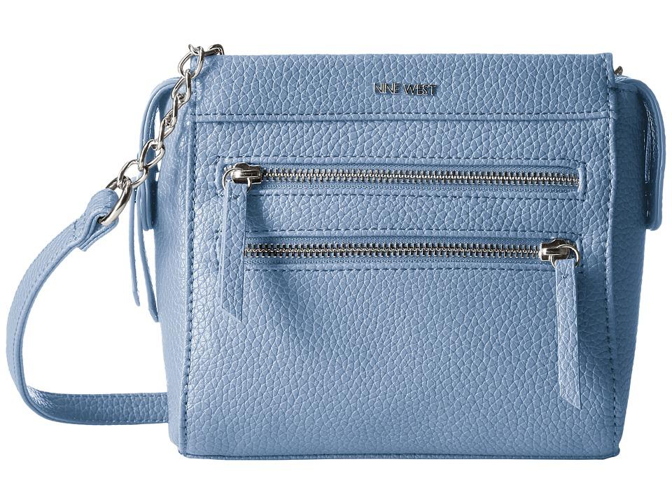 Nine West - Zip Zip Small Crossbody (River Blue) Cross Body Handbags