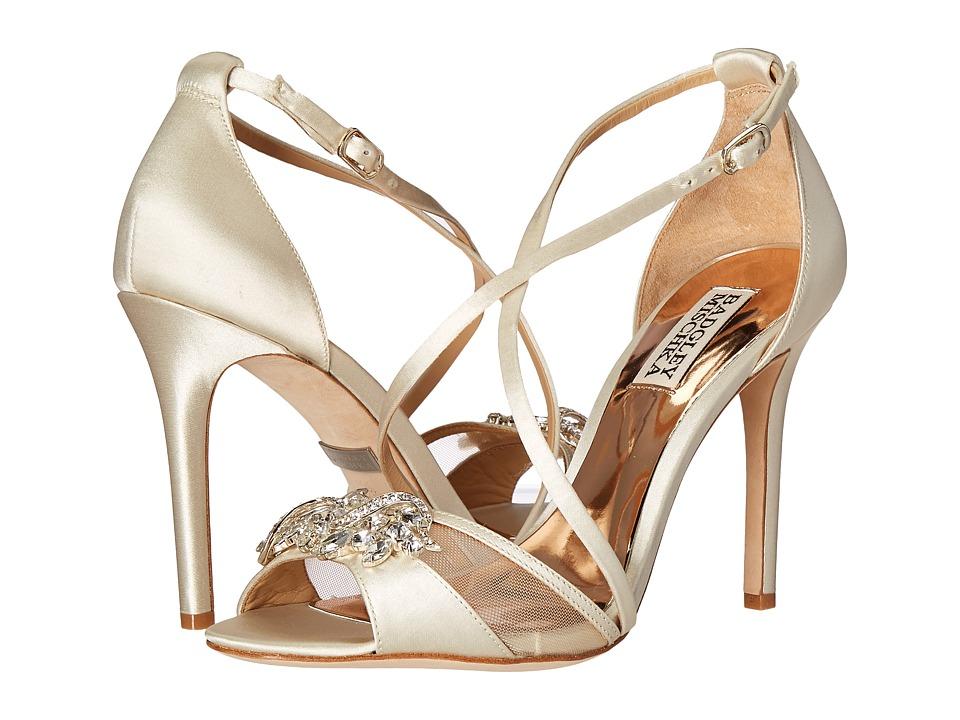 Badgley Mischka - Gala (Ivory Satin/Mesh) High Heels