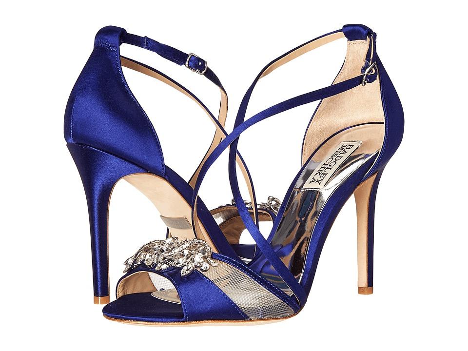 Badgley Mischka Gala (Indigo Satin/Mesh) High Heels