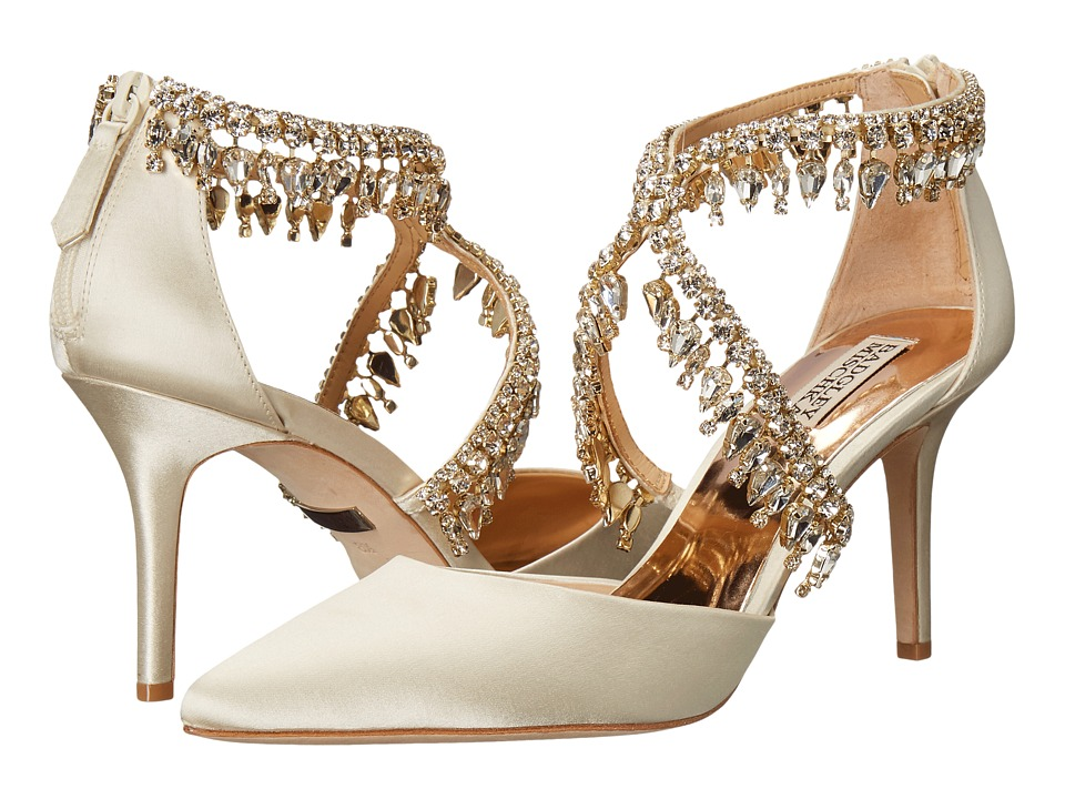 Badgley Mischka - Glamour (Ivory Satin) High Heels