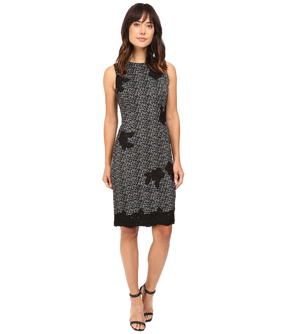 Taylor - Knit Jacquard Sheath Dress (Gray/Black) Women's Dress
