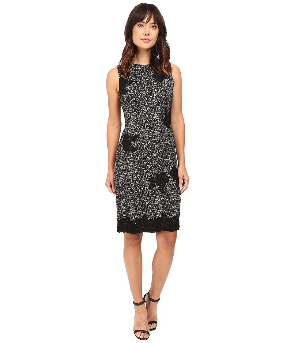 Taylor - Knit Jacquard Sheath Dress (Gray/Black) Women's Dress