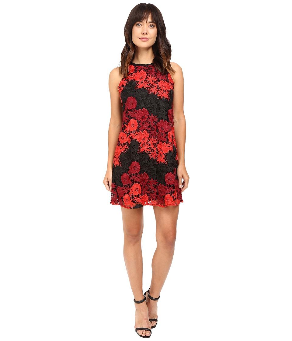 Taylor - Lace Trapze Dress (Scarlet Wine) Women's Dress