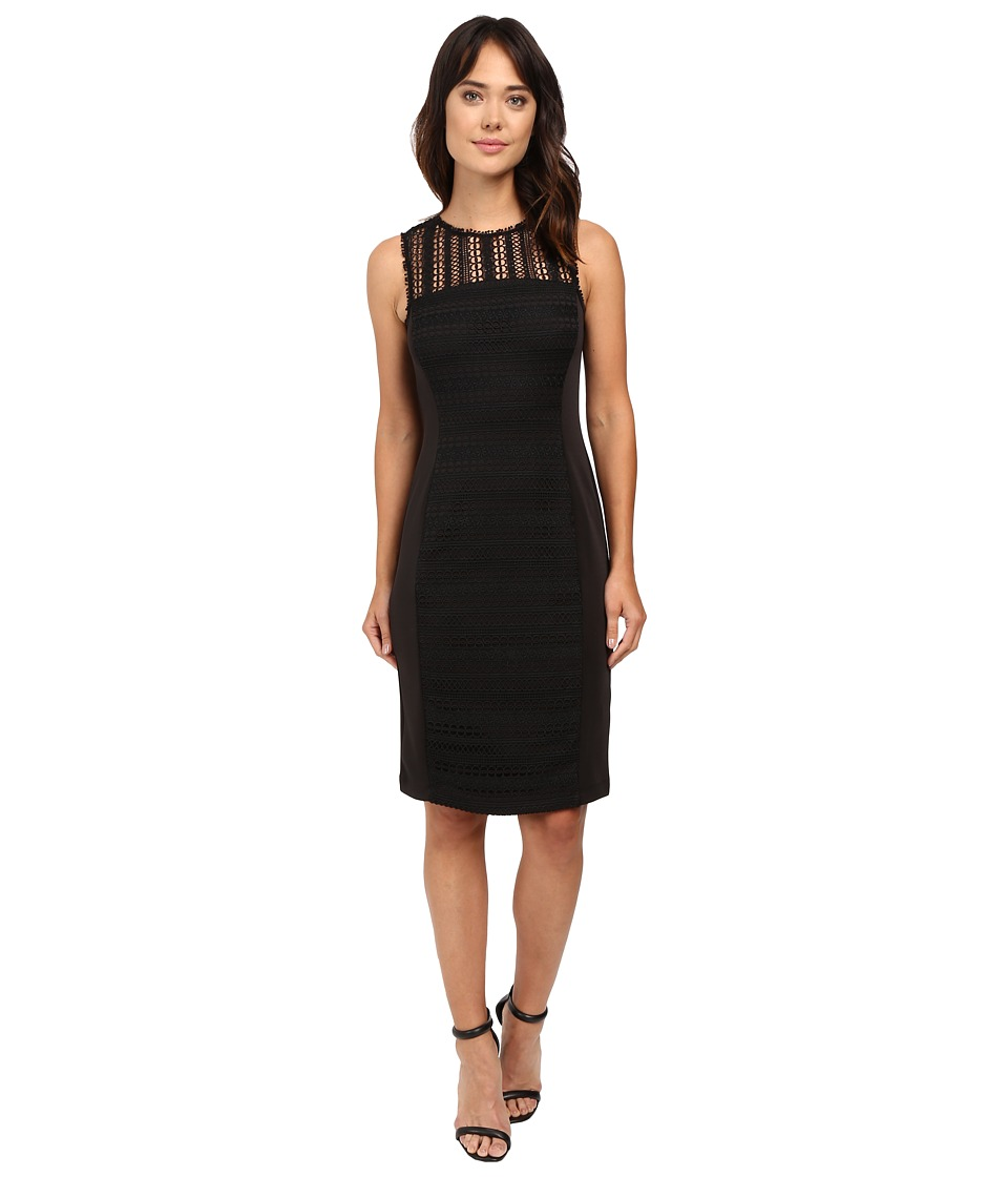 Taylor - Lace/Scuba Dress (Black) Women's Dress