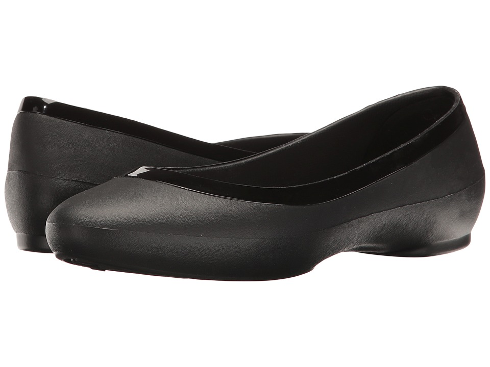 Crocs - Lina Deluxe (Black) Women's Flat Shoes