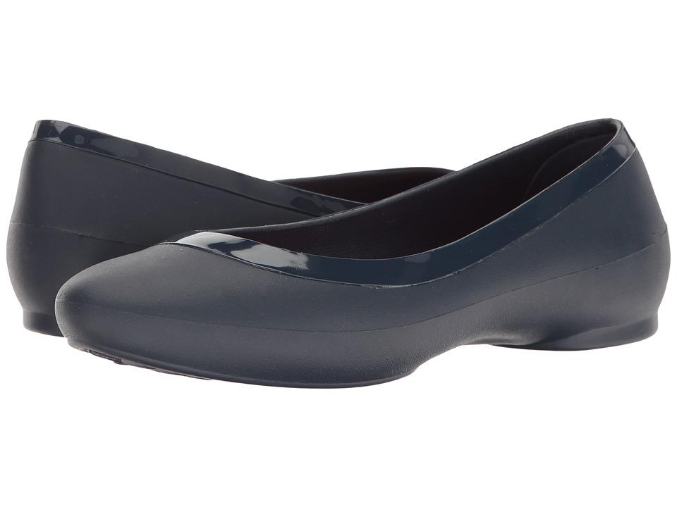 Crocs - Lina Deluxe (Navy) Women's Flat Shoes