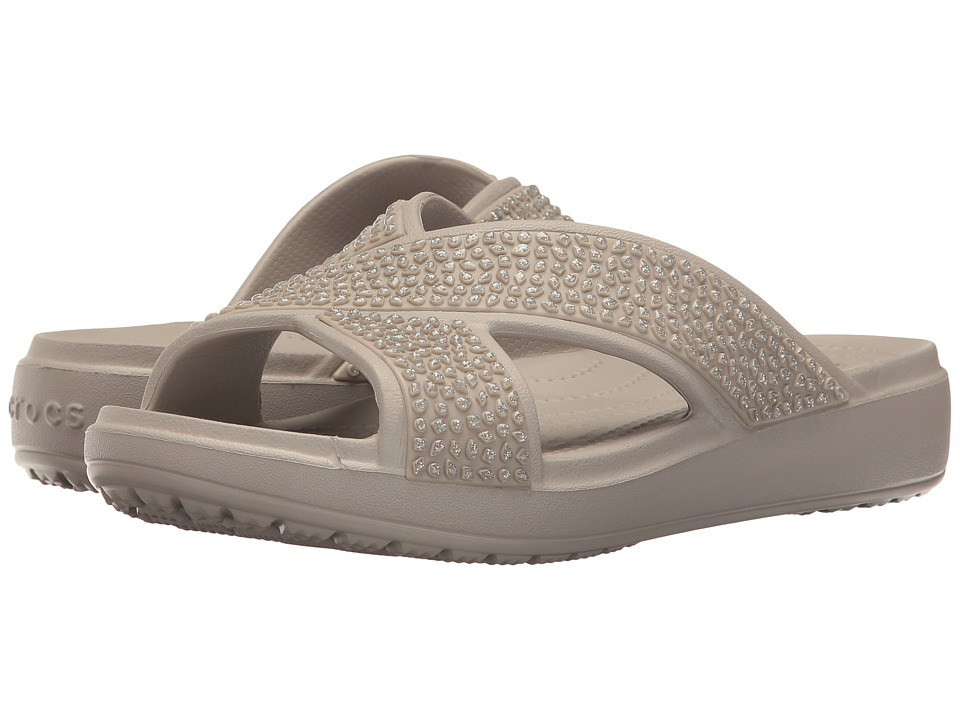Crocs - Sloane Embellished Xstrap (Platinum) Women's Sandals