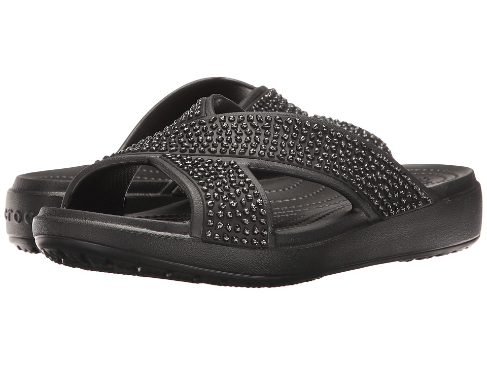 Crocs - Sloane Embellished Xstrap (Black/Black) Women's Sandals