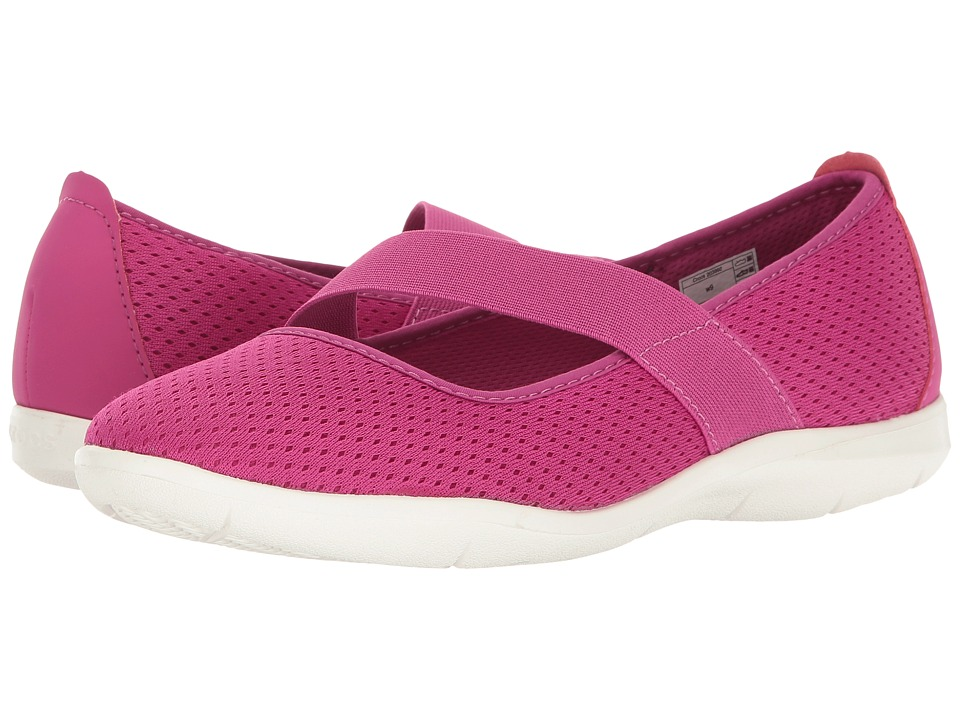 Crocs - Swiftwater Flat (Vibrant Violet/White) Women's Flat Shoes