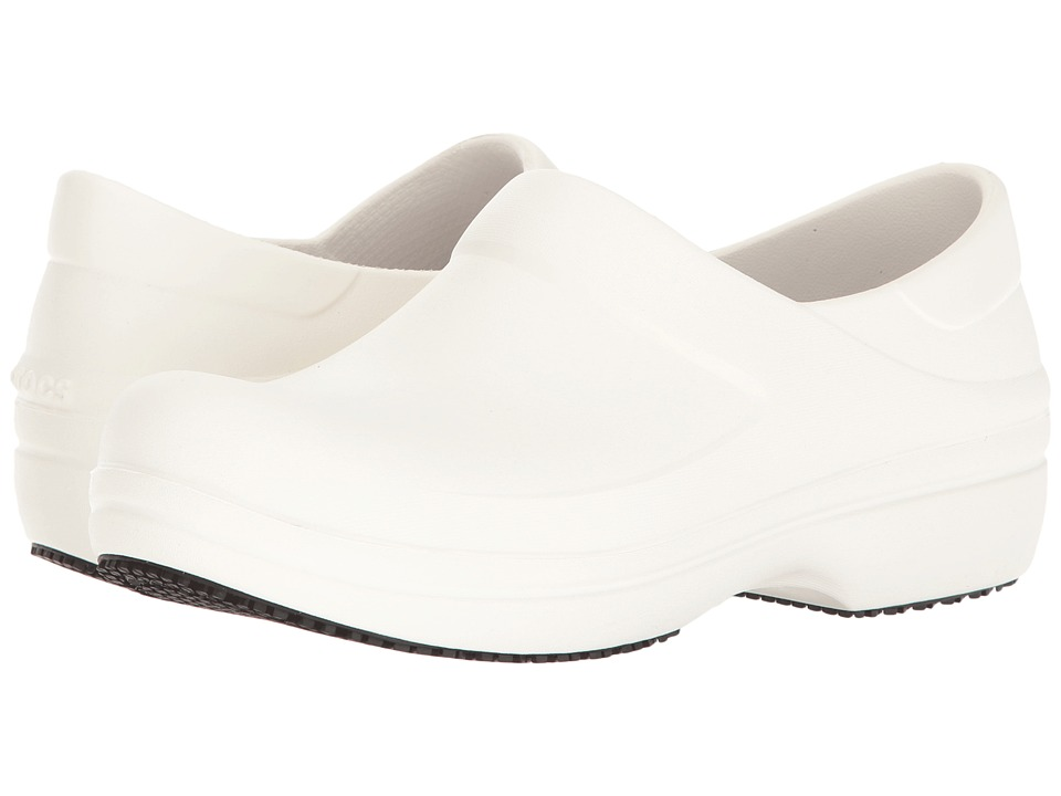 Crocs - Neria Pro Clog (White) Women's Clog/Mule Shoes