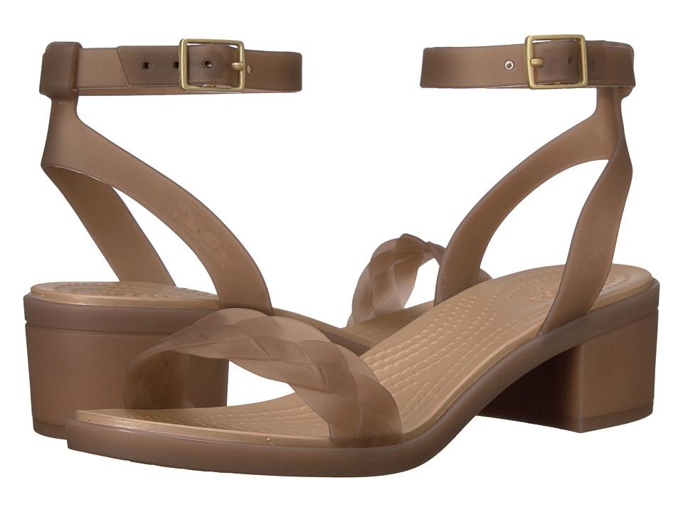 Crocs - Isabella Block Heel (Bronze/Gold) Women's Shoes