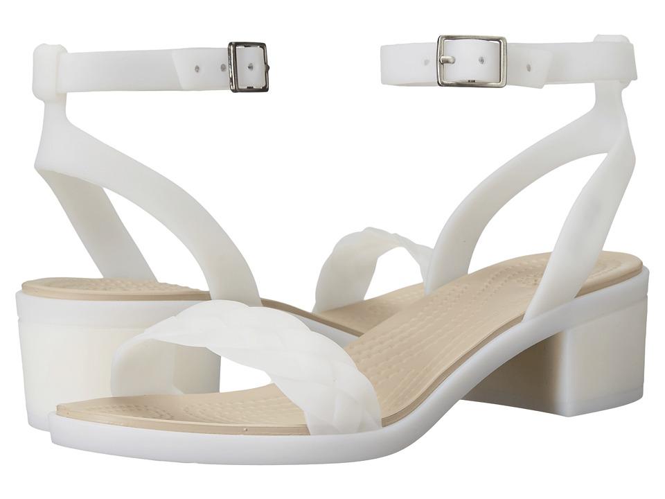 Crocs - Isabella Block Heel (Oyster) Women's Shoes
