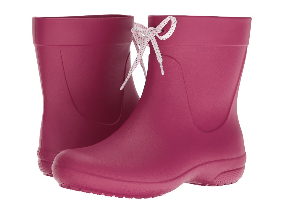 Crocs - Freesail Shorty Rain Boot (Berry) Women's Rain Boots