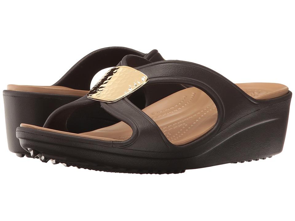 Crocs - Sanrah Embellished Wedge (Bronze/Gold) Women's Wedge Shoes
