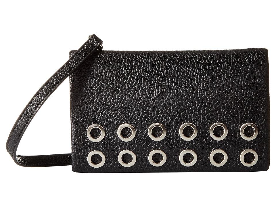 Nine West - Fold-Over Crossbody (Black) Cross Body Handbags