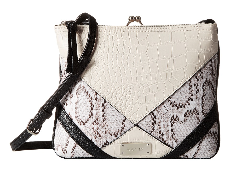 Nine West - Jaya Frame Crossbody (Milk/Black/White Multi) Cross Body Handbags