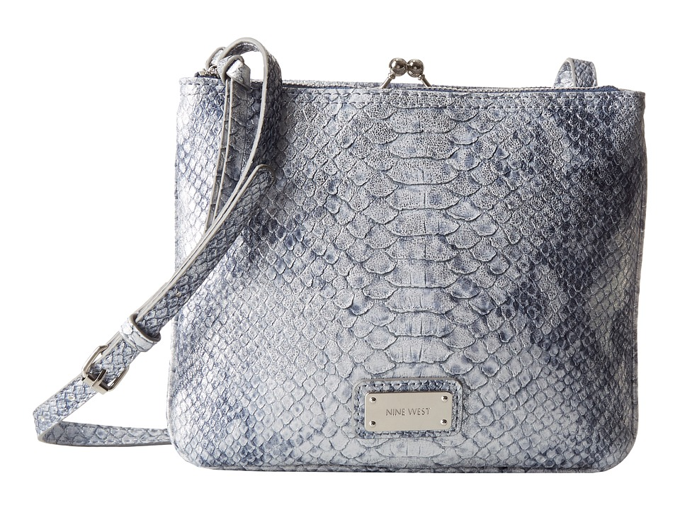 Nine West - Jaya Frame Crossbody (Denim Multi) Cross Body Handbags
