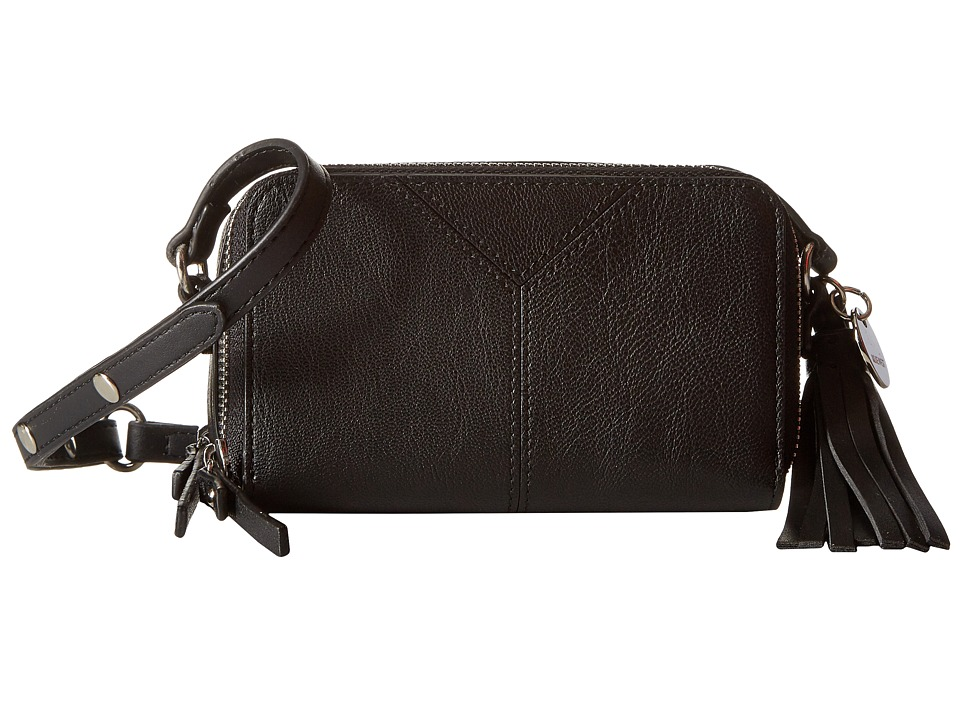Nine West - Tasseled and Tied SL Crossbody Double Zip (Black/Tan/Black) Cross Body Handbags
