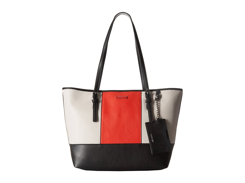 Nine West - Ava Tote (Milk/Black/Bright Poppy) Tote Handbags