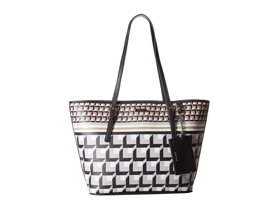 Nine West - Ava Tote (Neutral Multi/Black) Tote Handbags