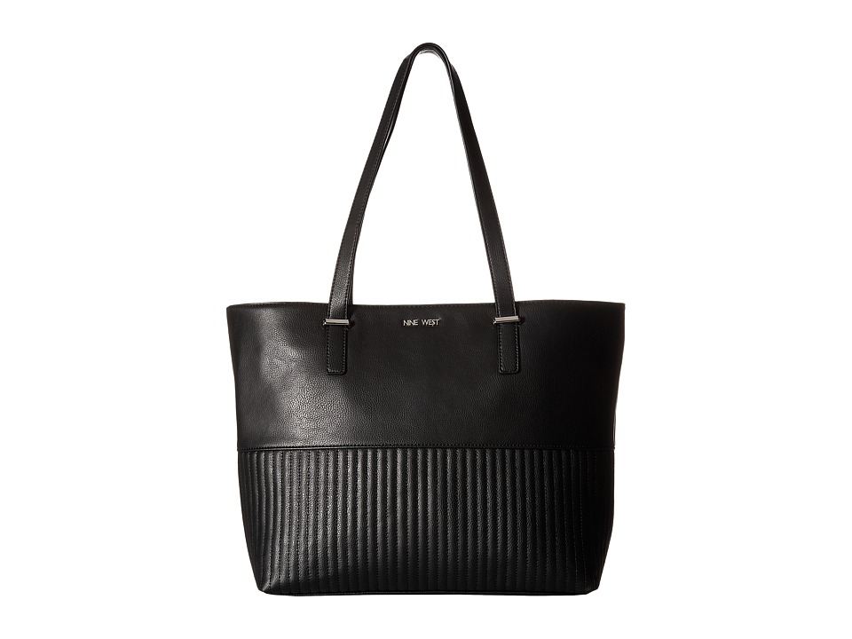 Nine West - Side Lines Tote (Black) Tote Handbags