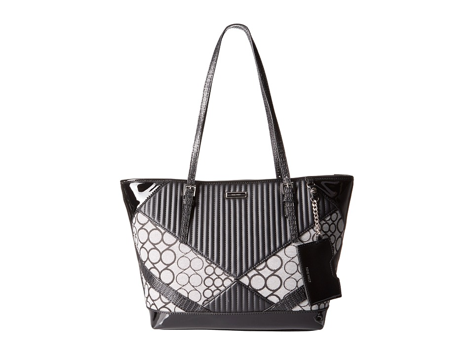 Nine West - Ava Tote (Black/Black/Black/Black/White/Black) Tote Handbags