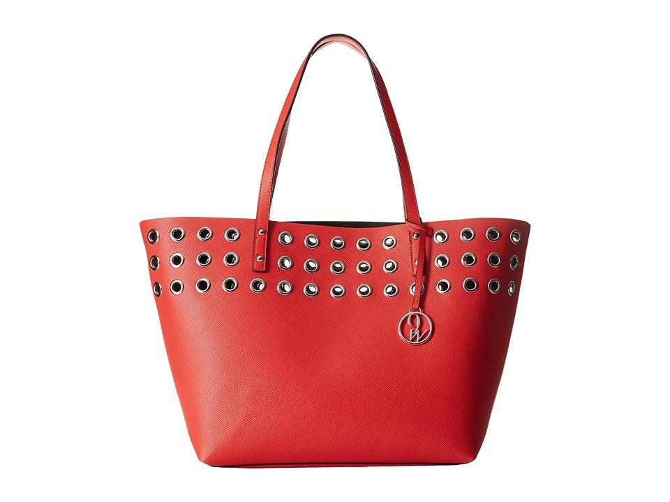 Nine West - Darya Tote (Bright Poppy/Black) Tote Handbags