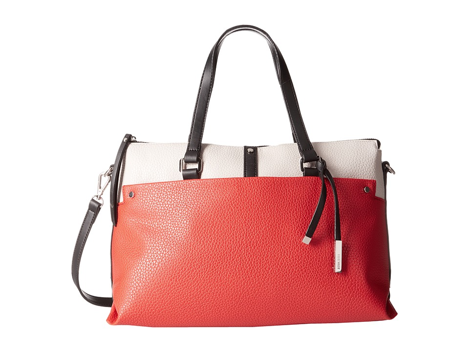 Nine West - Pockets A Plenty Satchel (Milk/Bright Poppy/Black) Satchel Handbags