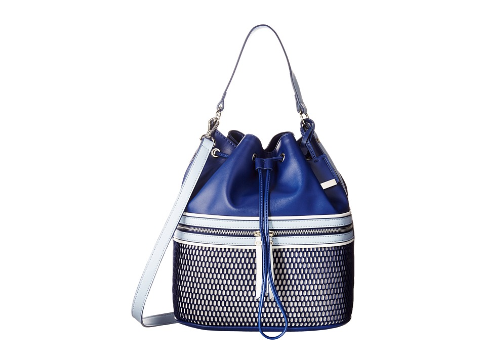Nine West - Hot Mesh Bucket (Light Cobblestone/India Ink/Chambray/India Ink/Snow Petal) Handbags
