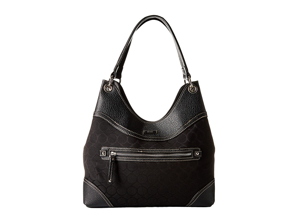 Nine West - 9S Jacquard Shoulder Bag (Black) Shoulder Handbags
