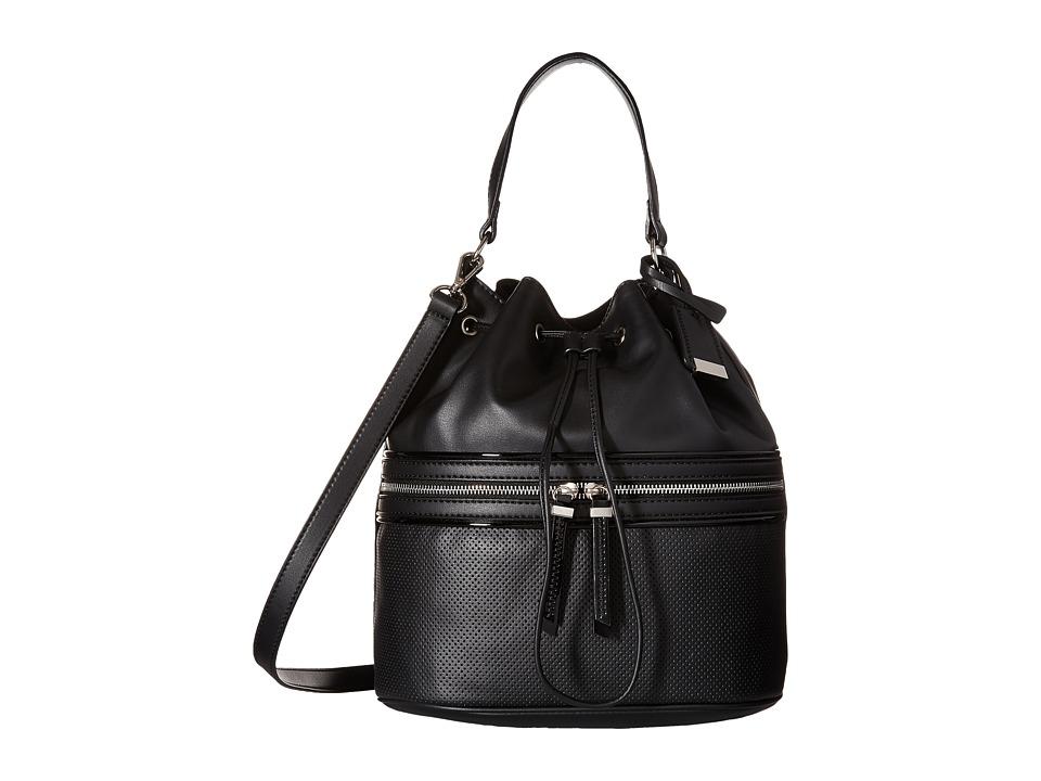 Nine West - Hot Mesh Bucket (Black/Black/Black) Handbags