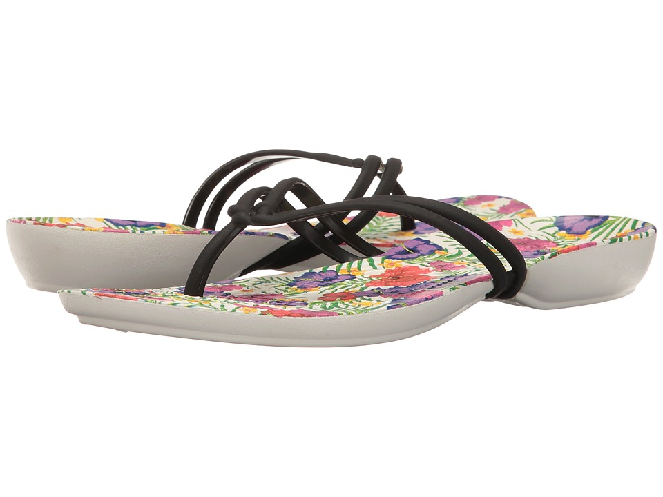 Crocs Isabella Graphic Flip (Black/Floral) Women