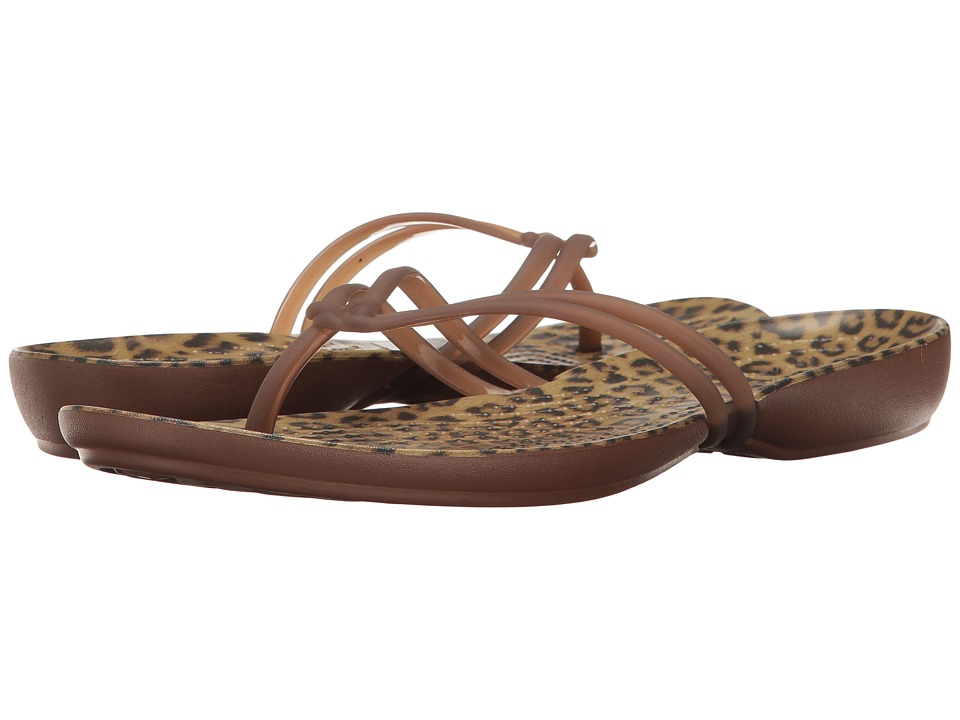 Crocs Isabella Graphic Flip (Leopard) Women's Sandals