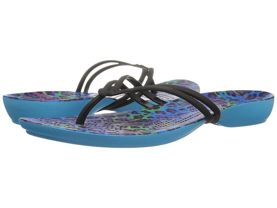 Crocs - Isabella Graphic Flip (Multi/Leopard) Women's Sandals