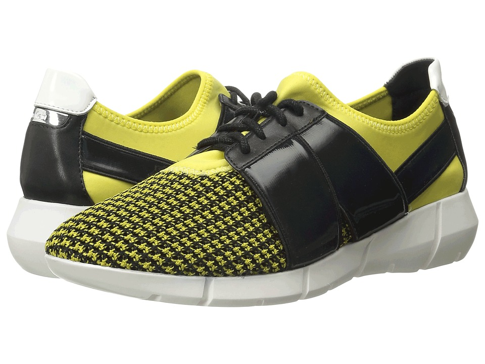 Calvin Klein - Wisteria (Laser Lemon/Black Knit/Neoprene/Leather) Women's Lace up casual Shoes