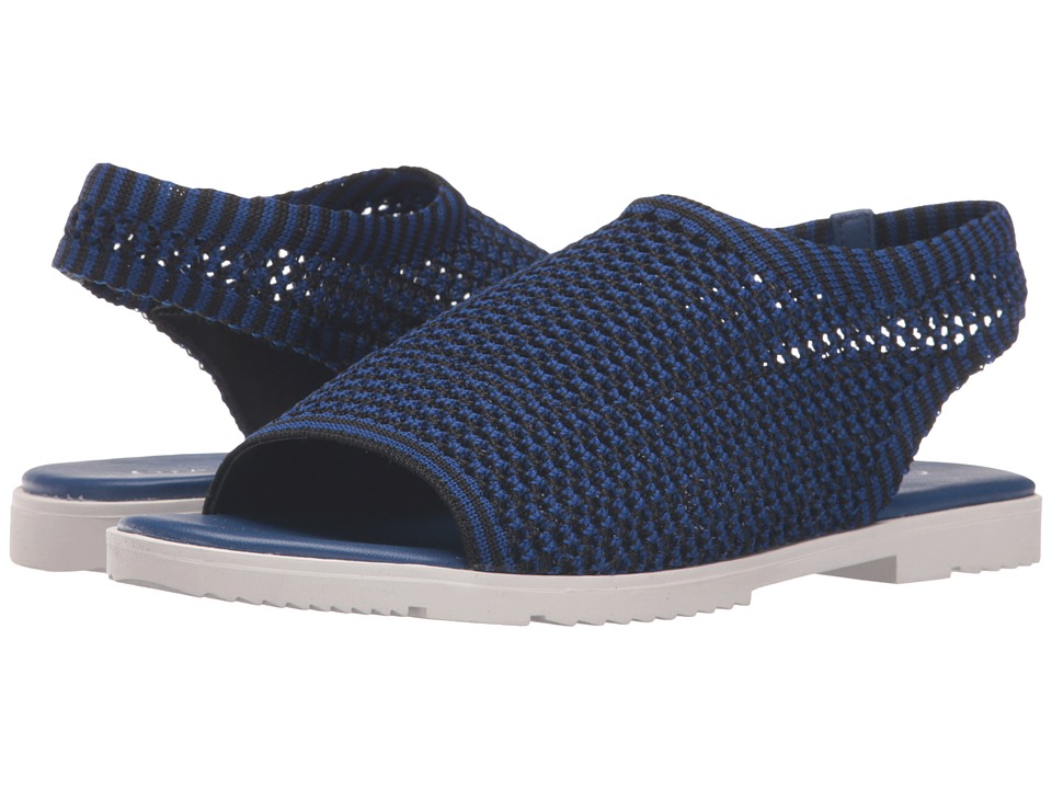 Calvin Klein - Mala (Black/Fearless Blue Stretch Knit) Women's Shoes