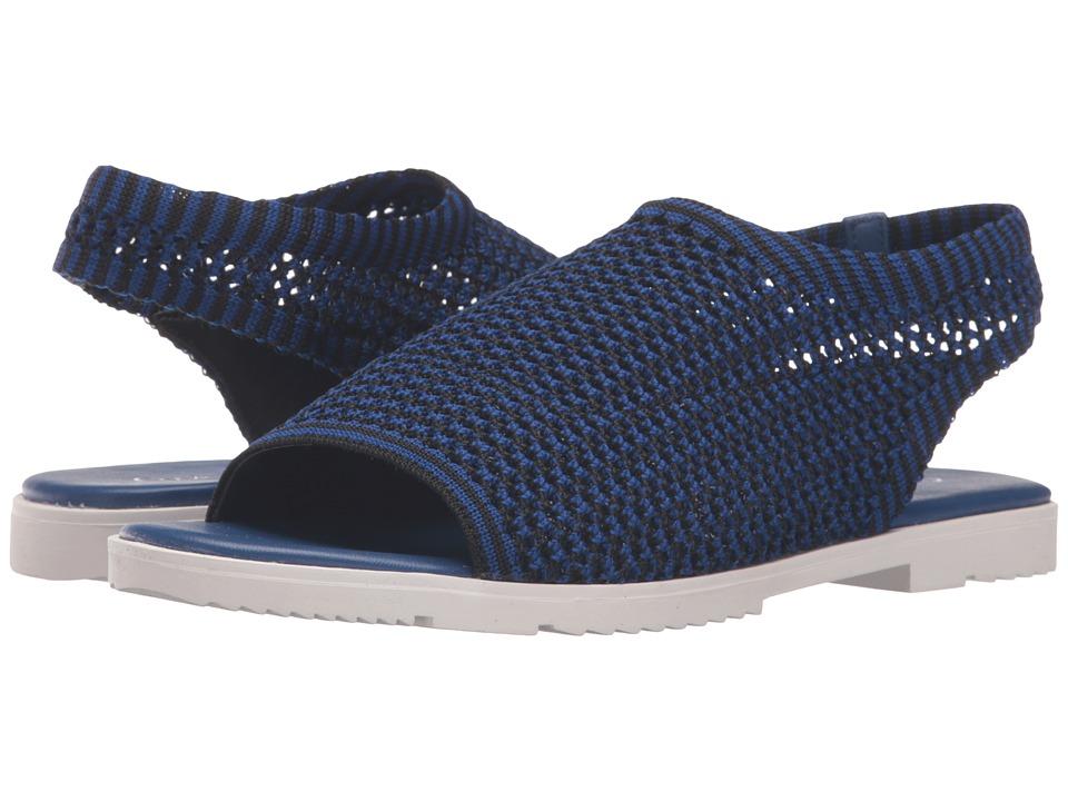 Calvin Klein - Mala (Black/Fearless Blue Stretch Knit) Women's Shoes