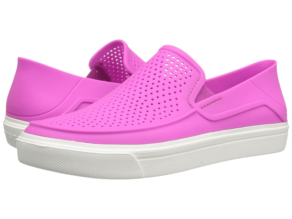 Crocs - CitiLane Roka Slip-On (Vibrant Violet) Women's Slip on Shoes