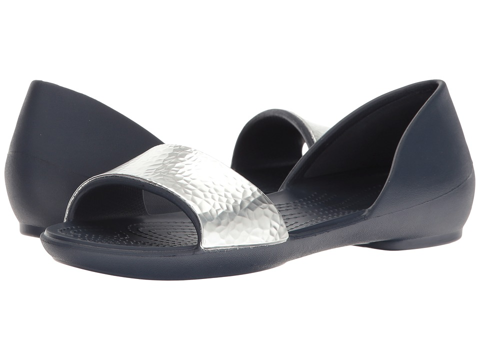 Crocs - Lina Embellished Dorsay (Navy/Sliver) Women's Sandals