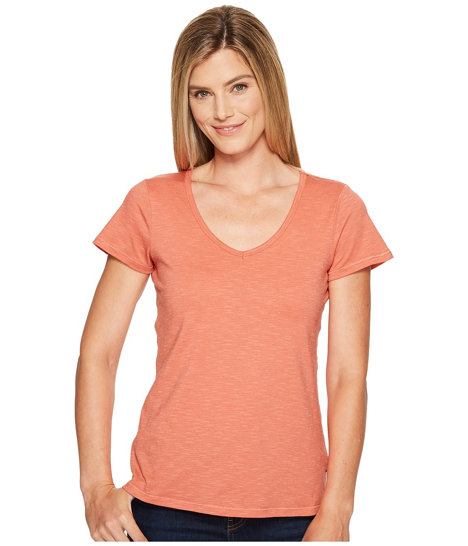 Toad&Co - Marley S/S Tee (Spiced Coral) Women's Short Sleeve Pullover