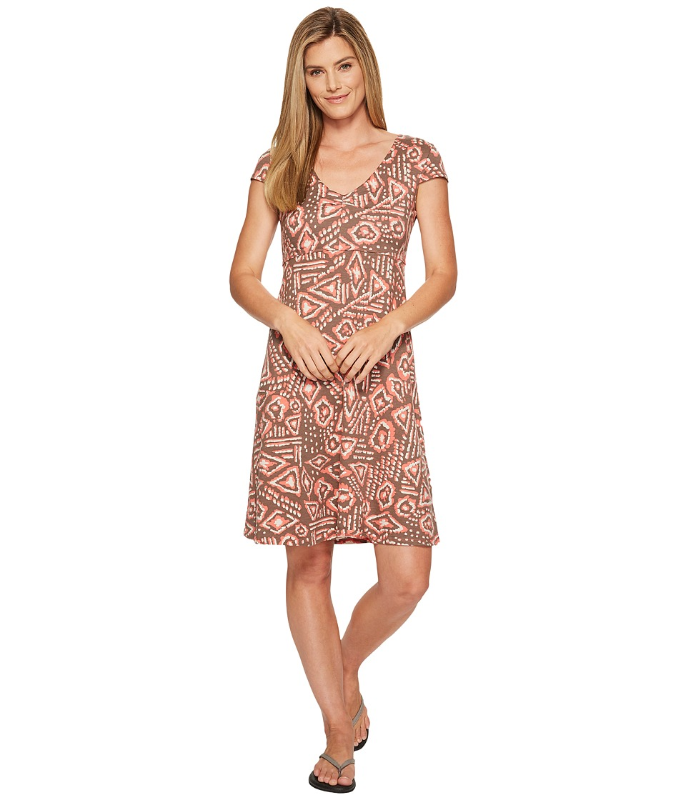 Toad&Co - Rosemarie Dress (Falcon Brown Brush Print) Women's Dress