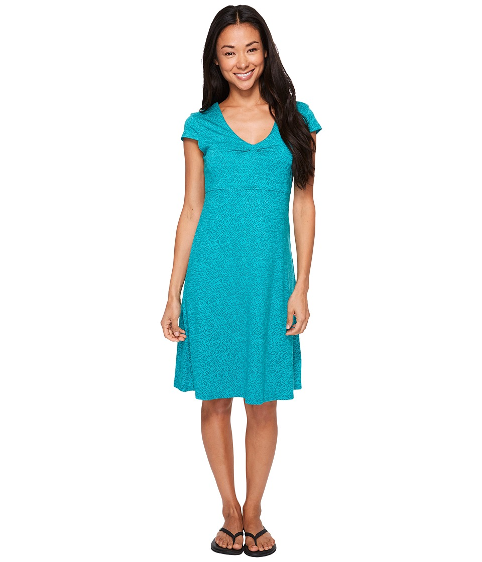 Toad&Co - Rosemarie Dress (Turquoise Cove Geo Print) Women's Dress