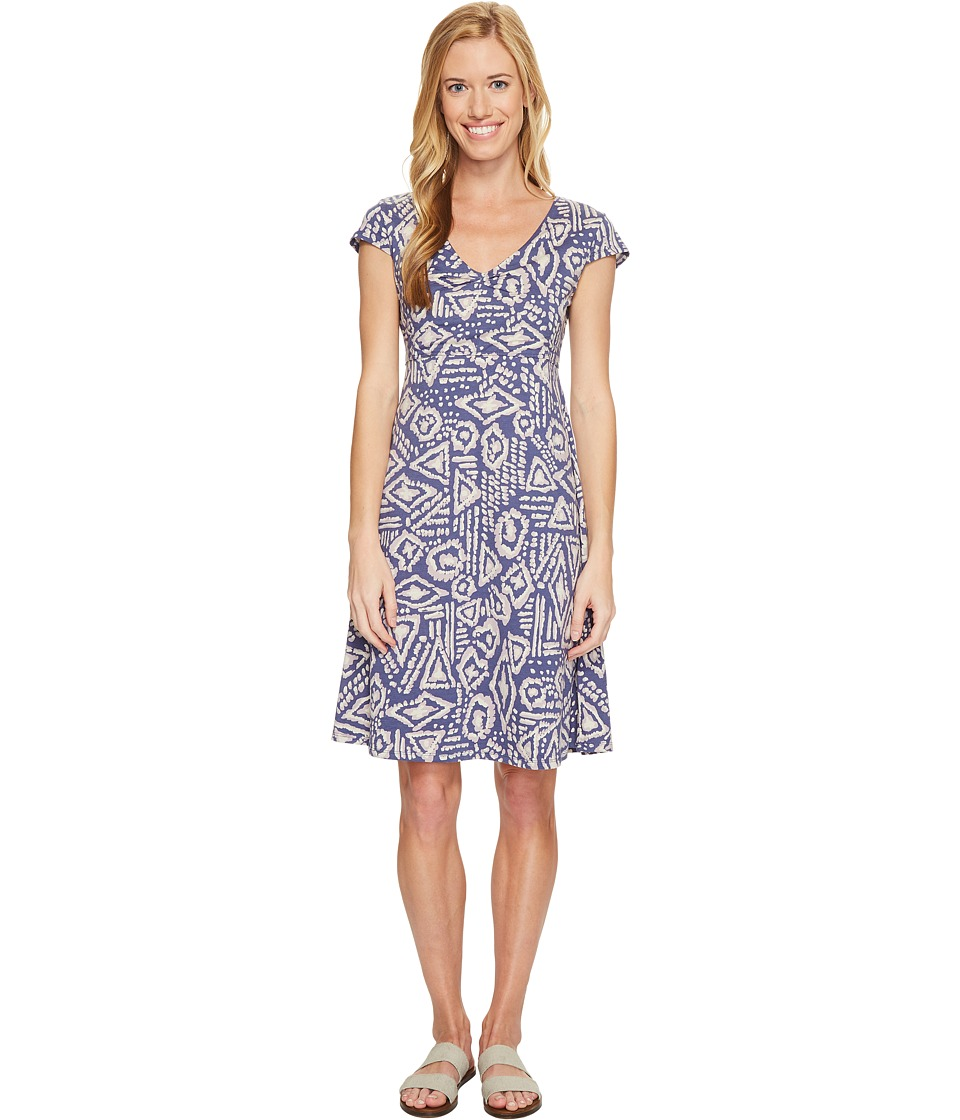 Toad&Co - Rosemarie Dress (Indigo Brush Print) Women's Dress