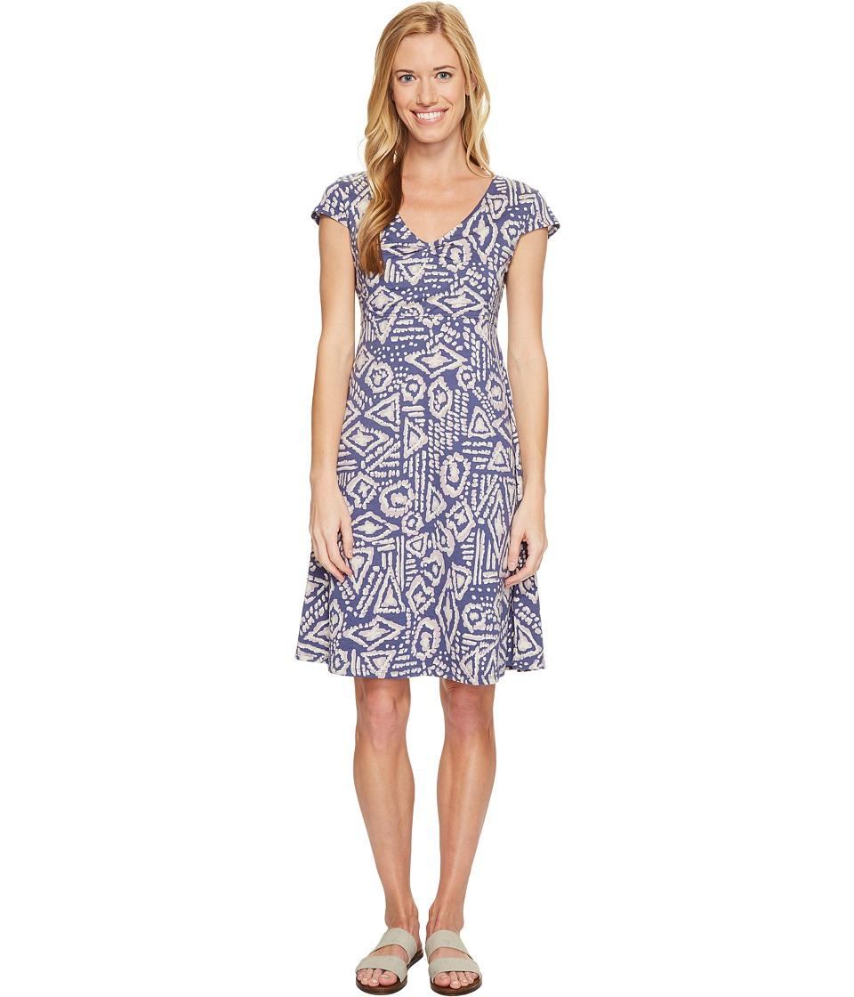 Toad&Co - Rosemarie Dress (Indigo Brush Print) Women's Dress