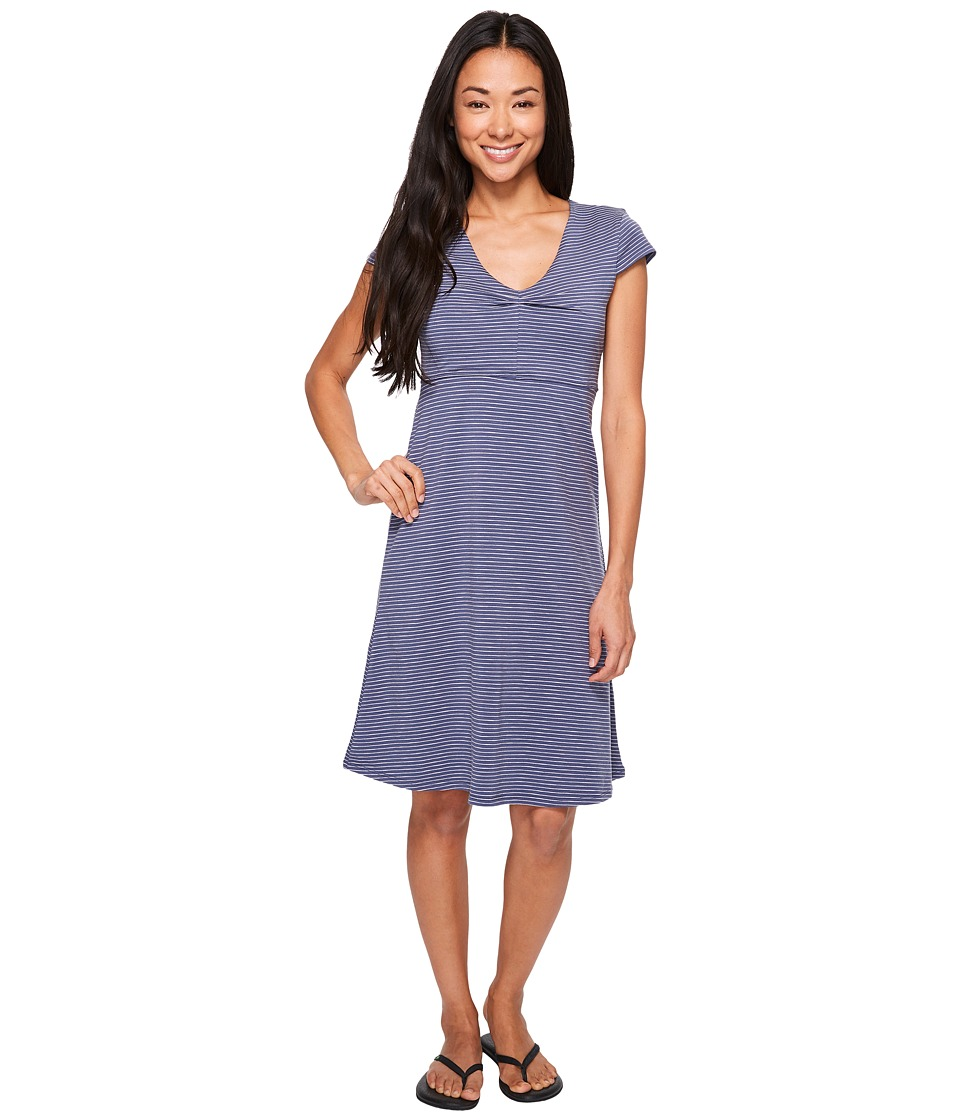 Toad&Co - Rosemarie Dress (Indigo Stripe) Women's Dress